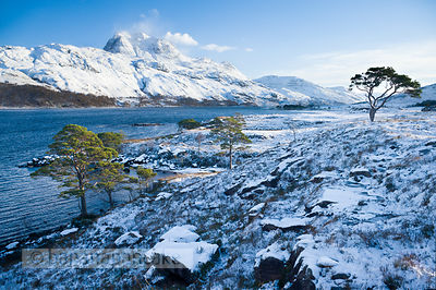 BP2290b - Slioch, from Loch Maree, Winter