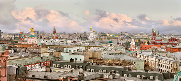 Moscow's City Center skyline