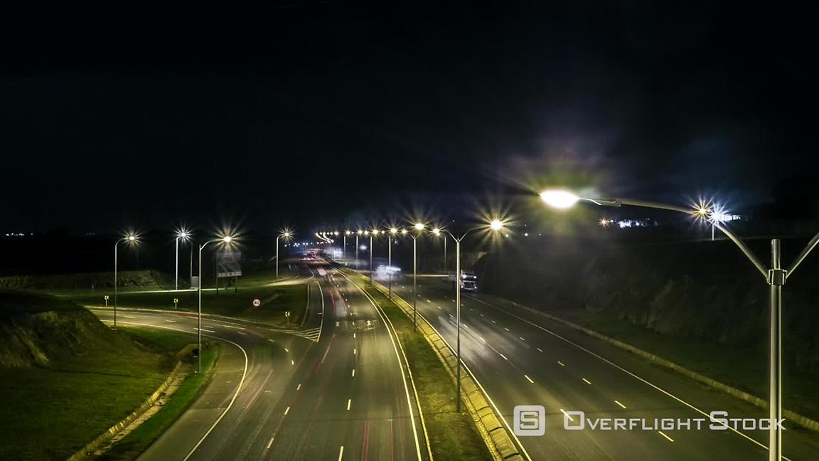 Time-lapse of Freeway at night Nairobi Kenya