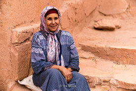 A local in the ksar of Ait Benhaddou in Morocco
