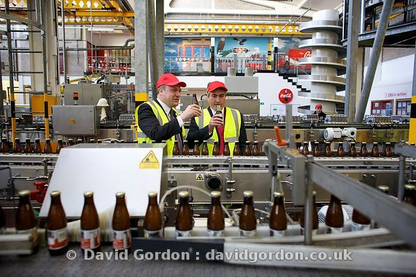 Iain Gray at Coke-Cola factory