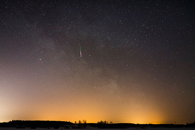 Milky Way Meteor. Captured on March 21 2018 in Southern Finland.