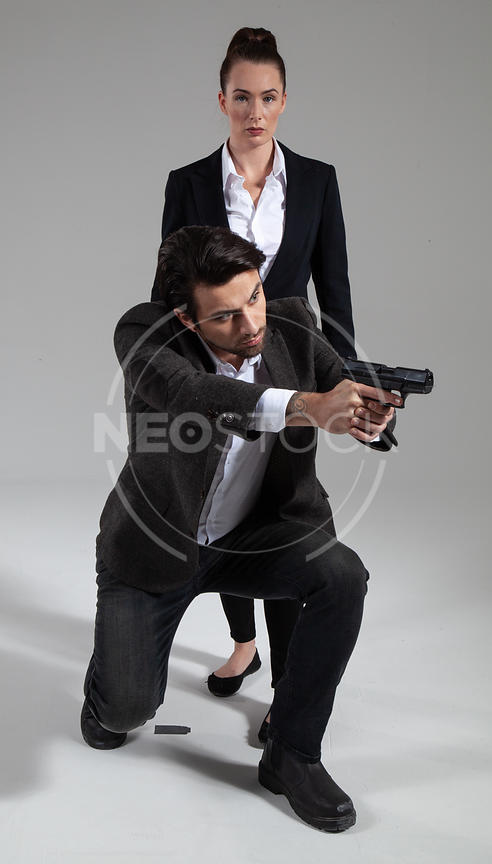 Cop Duo Stock Photography by NeoStock