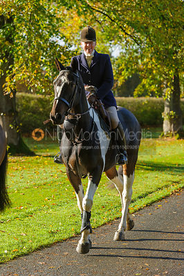 Emma Brown arriving at the meet at Preston Lodge - Opening Meet 2016