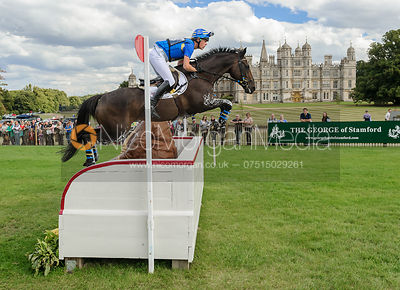 Ludwig Svennerstal and KING BOB - cross country phase,  Land Rover Burghley Horse Trials, 7th September 2013.