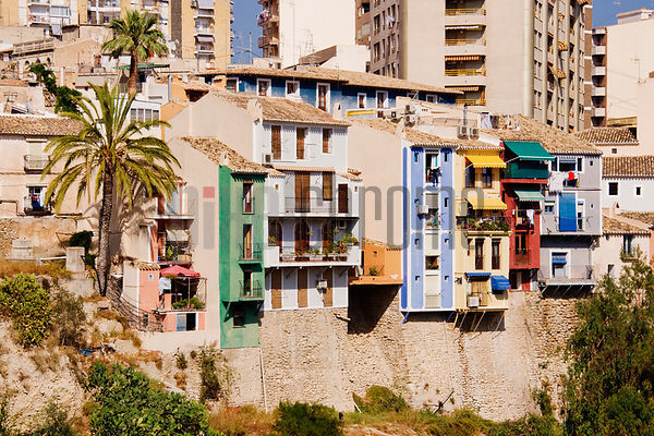 Colorful Houses Villa Joiosa Benidorm Spain