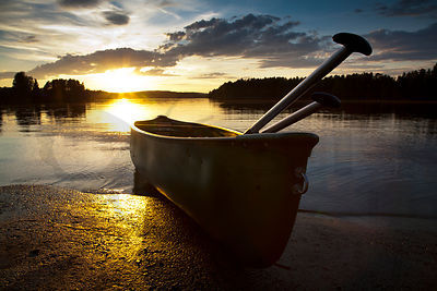 Canoe in Sunset