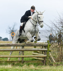 Nick Wright jumping a hunt jump - The Cottesmore Hunt at Burrough House 18/12
