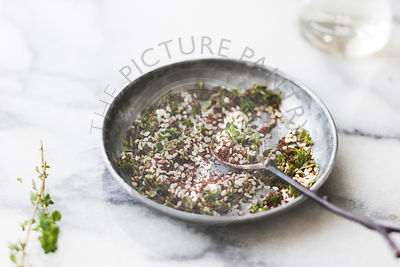 Middle Eastern herbs, called Za'atar