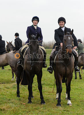 Etti and Jeremy Dale - The Cottesmore Hunt at Dene Bank Farm 3-12