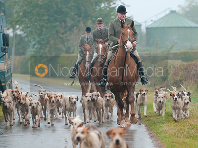 Huntsman Neil Coleman and the Cottesmore hounds