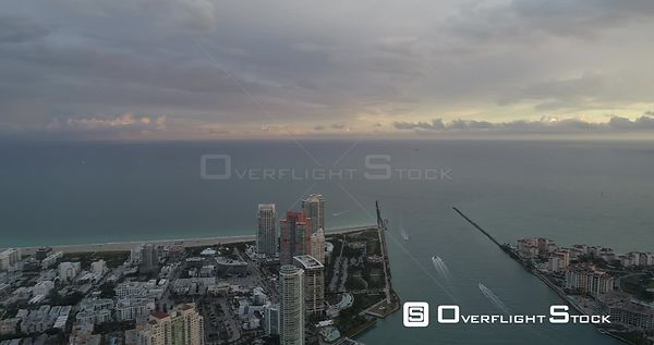 South Point South Pointe Beach and Pier Drone Video South Beach Miami Florida