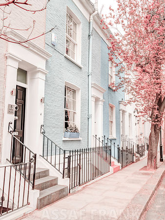 Multicolored houses in London