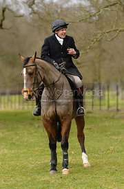 Roger Lee at the meet at Grimsthorpe Castle