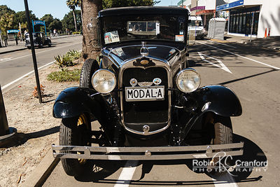 Art Deco Sunday 2014.  1930 Ford A.  License Plate MODALA