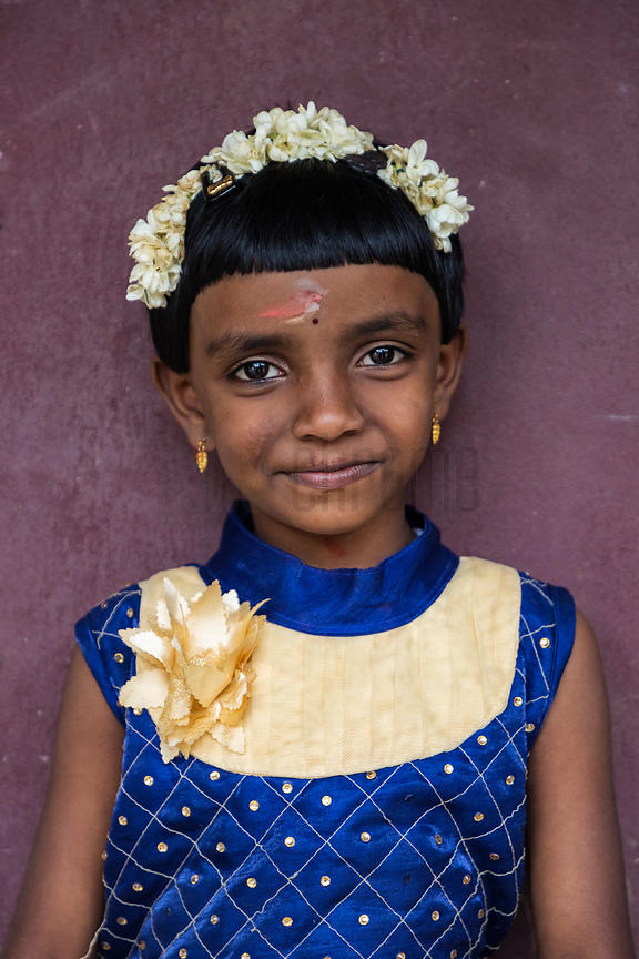Portrait of a Girl who has Just gone through her Earring Ceremony""
