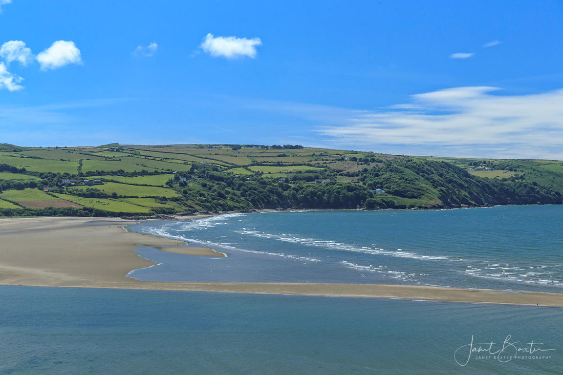 Poppit Sands & Cemaes Head from Gwbert