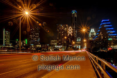 Austin Downtown at Night, Texas, USA