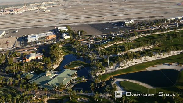 Las Vegas, Nevada, USA  Aerial Footage of Las Vegas Golf Course and Airport
