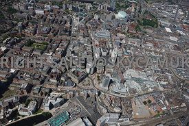 Leeds aerial photograph of central Leeds centered on City Square