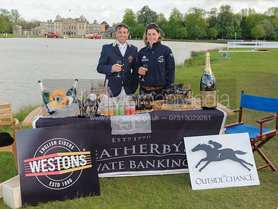 Winner Sam Griffiths at the Outside Chance - Mitsubishi Motors Badminton Horse Trials 2014.