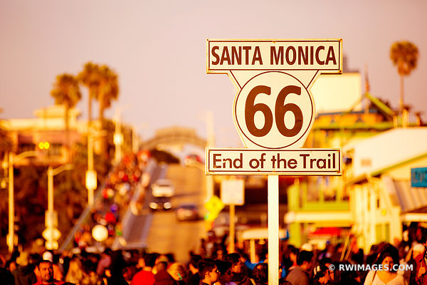 END OF ROUTE 66 SANTA MONICA CALIFORNIA COLOR