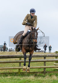 Harriet Gibson umping a hunt jump - The Cottesmore Hunt at Burrough House 18/12