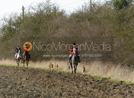 John Holliday with hounds - The Belvoir at Burton Pedwardine