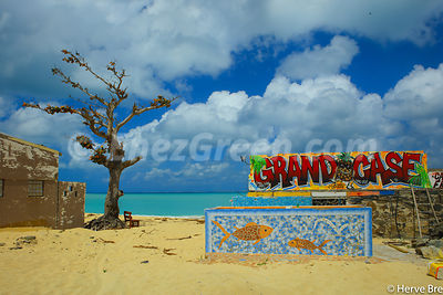 Saint Martin beach art