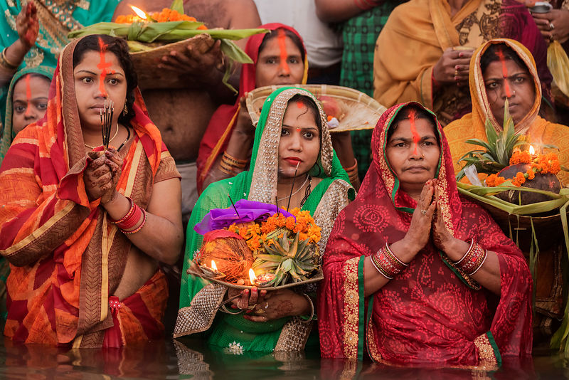 Devotees Waiting for the Sunrise During Chhath Puja