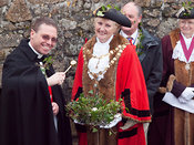 the blessing of the silver bal at the St Ives Feast