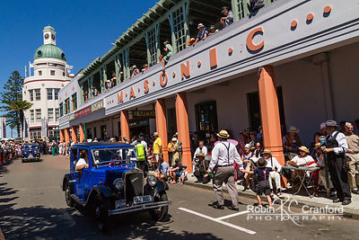 Art Deco Saturday 2012 - Vintage Car Parade.  License Plate = 32 A10