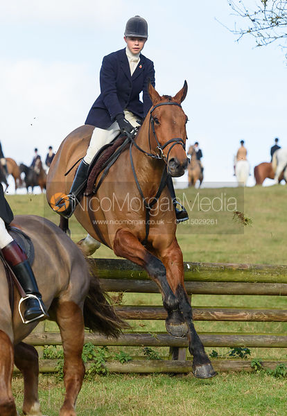 Marina Bealby jumping a hunt jump at Burrough House - The Cottesmore at Somerby 5/11