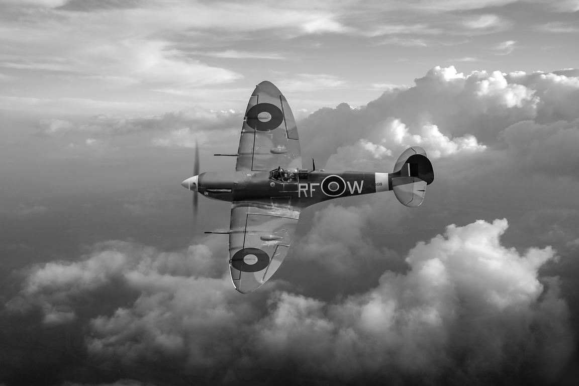 Spitfire Vb black and white version