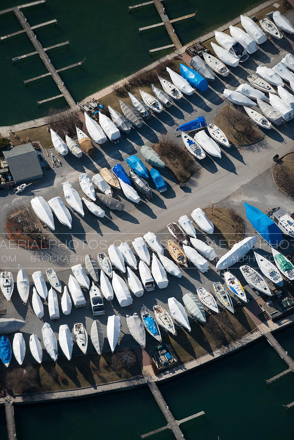 Covered Boats at Marina