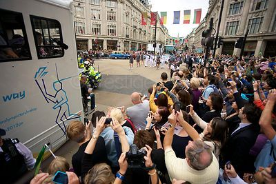 Paralympic Torch Media Truck at Oxford Circus