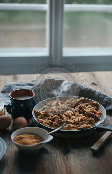 Kaiserschmarrn or shredded pancake