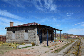 Former railway station building, now a house, Comanche, La Paz Department, Bolivia