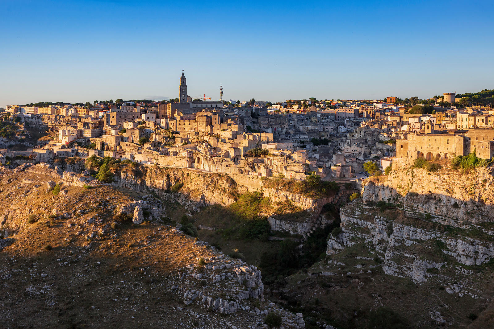 Skyline of Matera at Sunrise