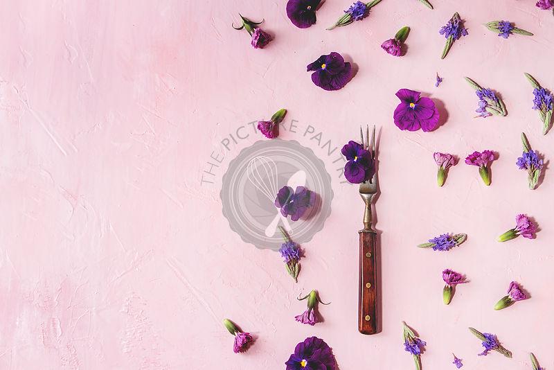 Purple edible flowers