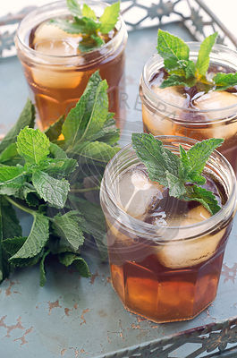 Iced Tea with Mint
