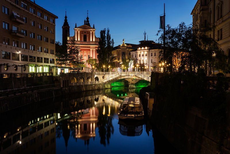 Ljubljanica River at dawn