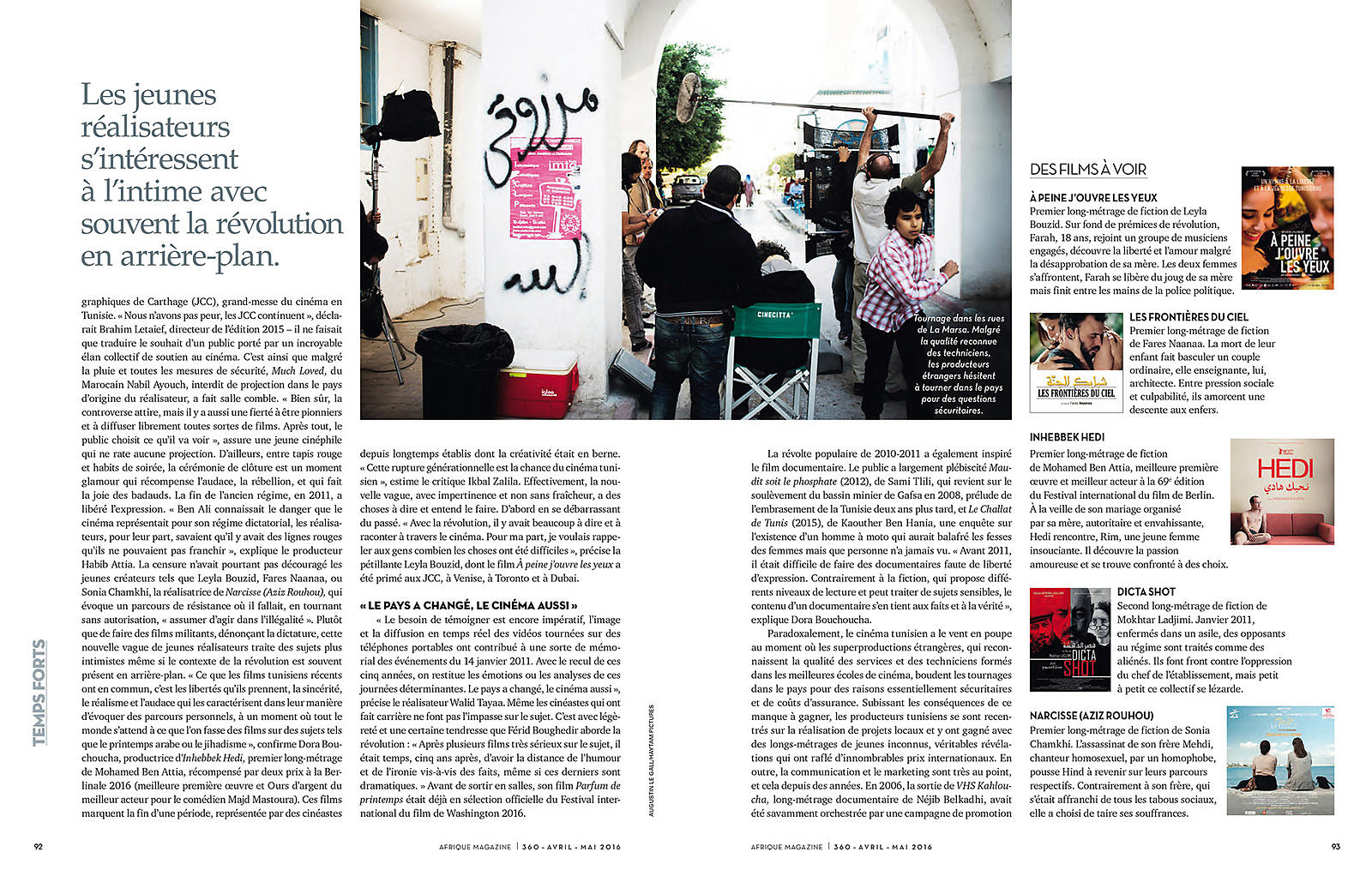Augustin Le Gall - Afrique magazine, Avril 2016