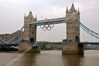 Tower Bidge With the Olympic Rings