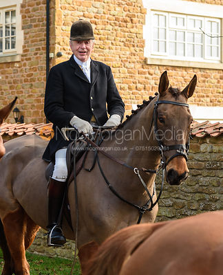 Harry Westropp arriving at the meet. The Belvoir Hunt at Springfield Farm 23/2