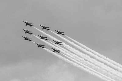 The Red Arrows black and white version