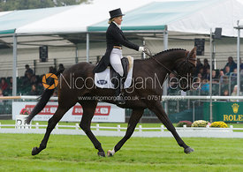 Jonelle Richards and THE DEPUTY - dressage phase,  Land Rover Burghley Horse Trials, 6th September 2013.