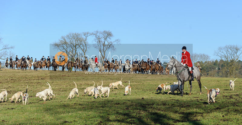 The Cottesmore Hunt at Burrough House 17/12