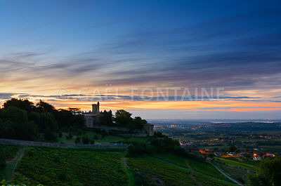 Montmelas castle at sunrise time - Beaujolais