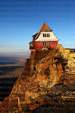 The old ski hut on Mt Chacaltaya, Bolivia